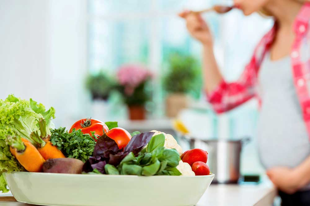 Gesundes Essen in der Schwangersch